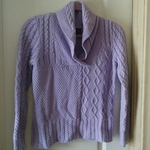 Super SOFT CABLE KNIT LILAC SWEATER